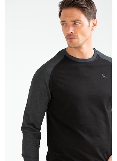 Speedlife Rubber Erkek Sweatshirt Siyah